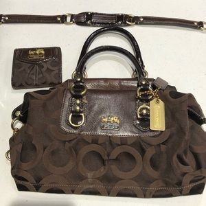 Coach Madison Op Art in brown with matching wallet